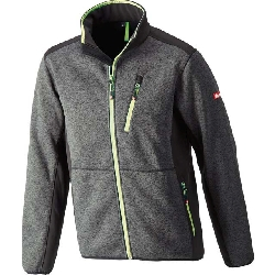 Strick-Softshell-Jacke twenty-four dunkelgrau/lime